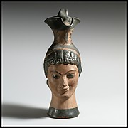 Oinochoe in the form of a woman's head