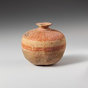 Terracotta aryballos (oil flask) in the form of a pomegranate