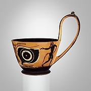 Terracotta kyathos (cup-shaped ladle)