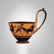Terracotta kyathos (cup-shaped ladle)