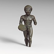 Bronze statuette of a discus thrower