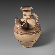 Terracotta jug with trough spout