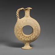 Terracotta ring vase