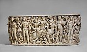 Marble sarcophagus with the Triumph of Dionysos and the Seasons