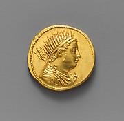 Gold oktadrachm of Ptolemy IV Philopator