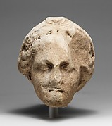 Marble head of a veiled goddess