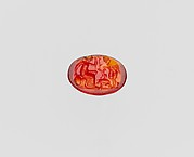Carnelian oval engraved gem