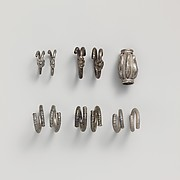 Silver gilt spirals and bead