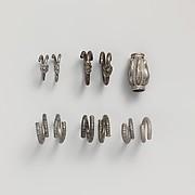 Silver gilt spirals and bead