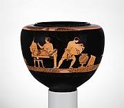 Terracotta dinos (deep round-bottomed bowl)