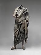 Bronze statue of a man