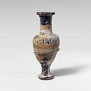 Glass unguentarium (perfume bottle)