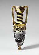 Glass amphoriskos (perfume bottle)