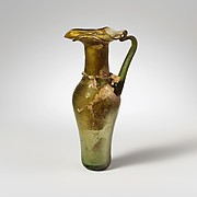 Glass jug with trefoil rim