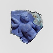 Cameo glass plaque fragment