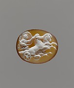 Sardonyx cameo with Aurora in a chariot