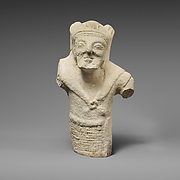 Limestone statuette of bearded Herakles