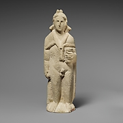 Limestone statuette of Pan