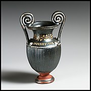 Terracotta miniature volute-krater (mixing bowl)
