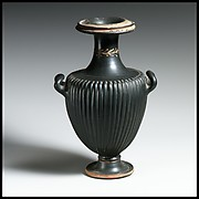 Terracotta hydria (water jar)