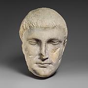 Limestone male head
