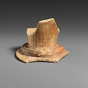 Terracotta sherd from the mouth of a vase with neck ridge