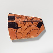 Terracotta sherd from a loutrophoros