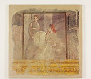 Wall painting fragment from the north wall of Room H of the Villa of P. Fannius Synistor at Boscoreale