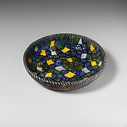 Glass mosaic dish