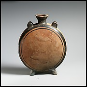 Terracotta pilgrim flask