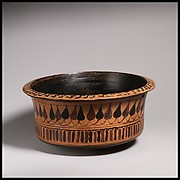 Deep terracotta bowl