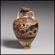 Terracotta amphoriskos (perfume vase)