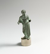 Bronze statuette of a man