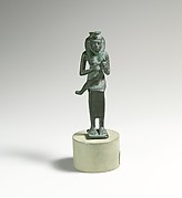 Bronze statuette of Isis with infant Horus
