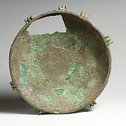Shallow bronze bowl