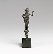 Bronze mirror handle (?) with Aphrodite