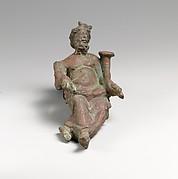 Bronze statuette of a god holding a cornucopia