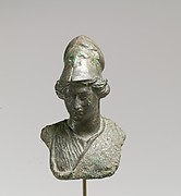 Bronze bust of Minerva