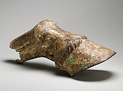 Gilt bronze horse's hoof and fetlock