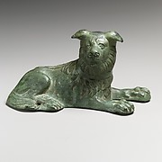 Bronze statuette of a dog