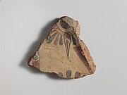Fragment of a terracotta antefix (roof tile)