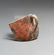 Terracotta rim, body and handle from a cup
