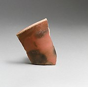 Terracotta rim fragment from a straight-sided open vase
