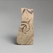 Terracotta vessel fragment with ivy pattern