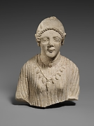 Limestone upper body of a woman