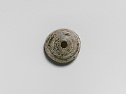 Glass spindle whorl