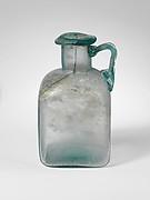 Glass square bottle