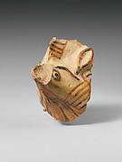 Terracotta vase fragment with griffin