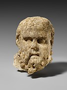 Marble head of a bearded man