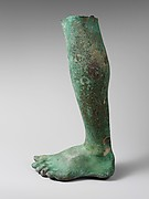 Bronze left leg and foot